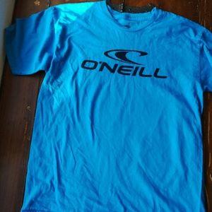 Oneill brand blue t shirt large